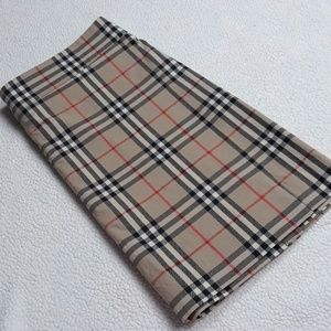 Burberry Plaid Wrap Mini Skirt